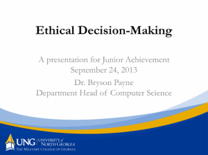 Click to download Dr. Payne's Ethical Decision-Making presentation PDF