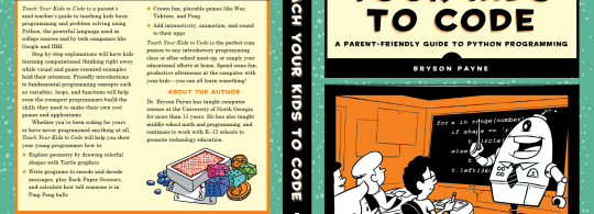 Book cover for Teach Your Kids to Code by Bryson Payne